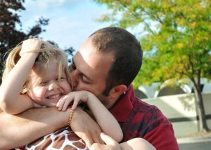 "Eisley with her ""best friend"" and daddy."
