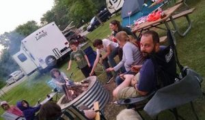 Here are our families camping together this past summer.